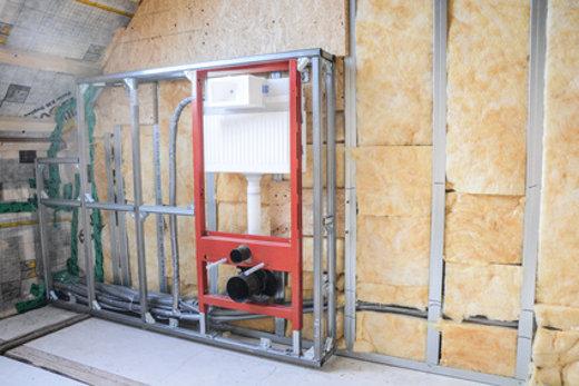 Vorwandinstallation mit WC-Sanitärblock © marco2811, fotolia.com