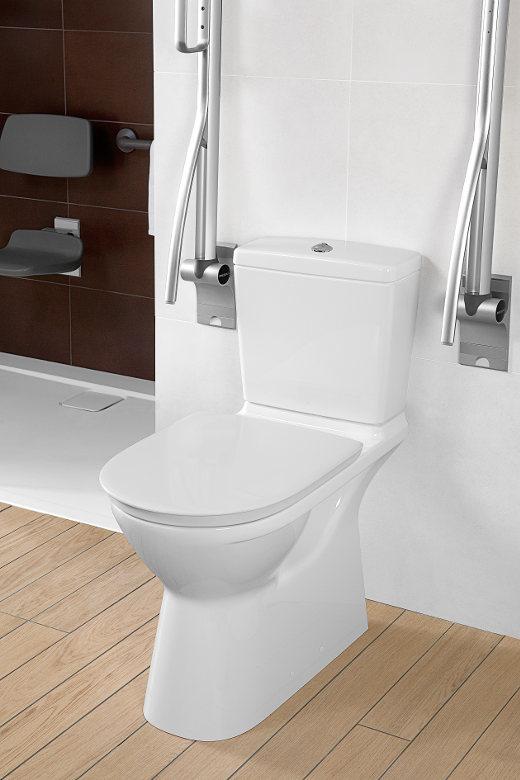 WC mit Stützklappgriffe © Villeroy & Boch